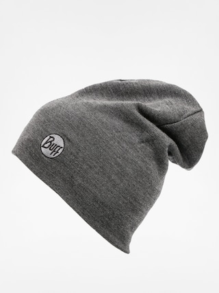 Buff Beanie Merino Wool Thermal (solid grey)