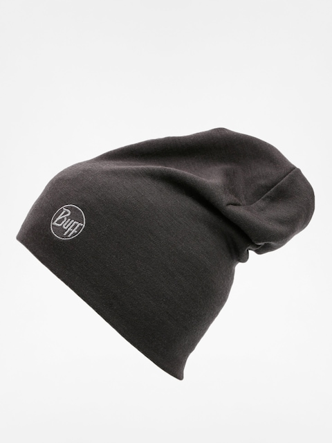 Buff Beanie Heavy Merino Wool (solid black)