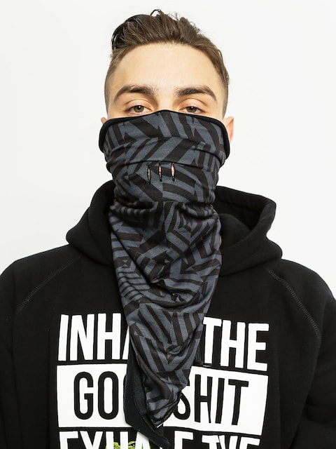 Buff Neckwarmer Bandana Op (grey graphite/black)