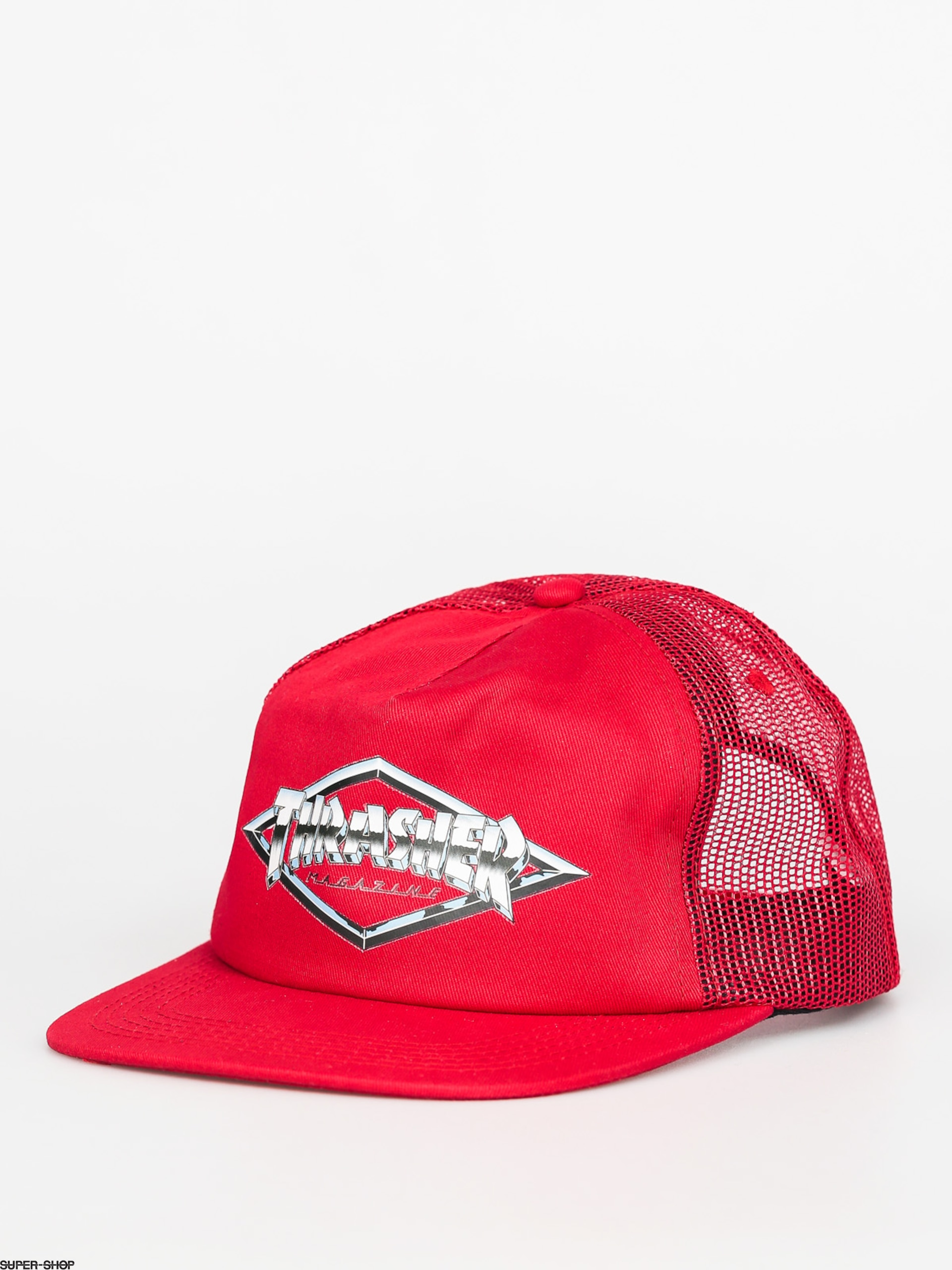 Thrasher Cap Diamond Emblem Trucker ZD (red)