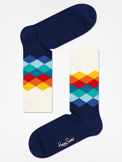 Happy Socks Socken Faded Diamond (navy/white/multi)