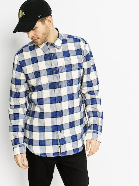 Diamond Supply Co. Shirt Holiday Flannel Plaid LS (navy)