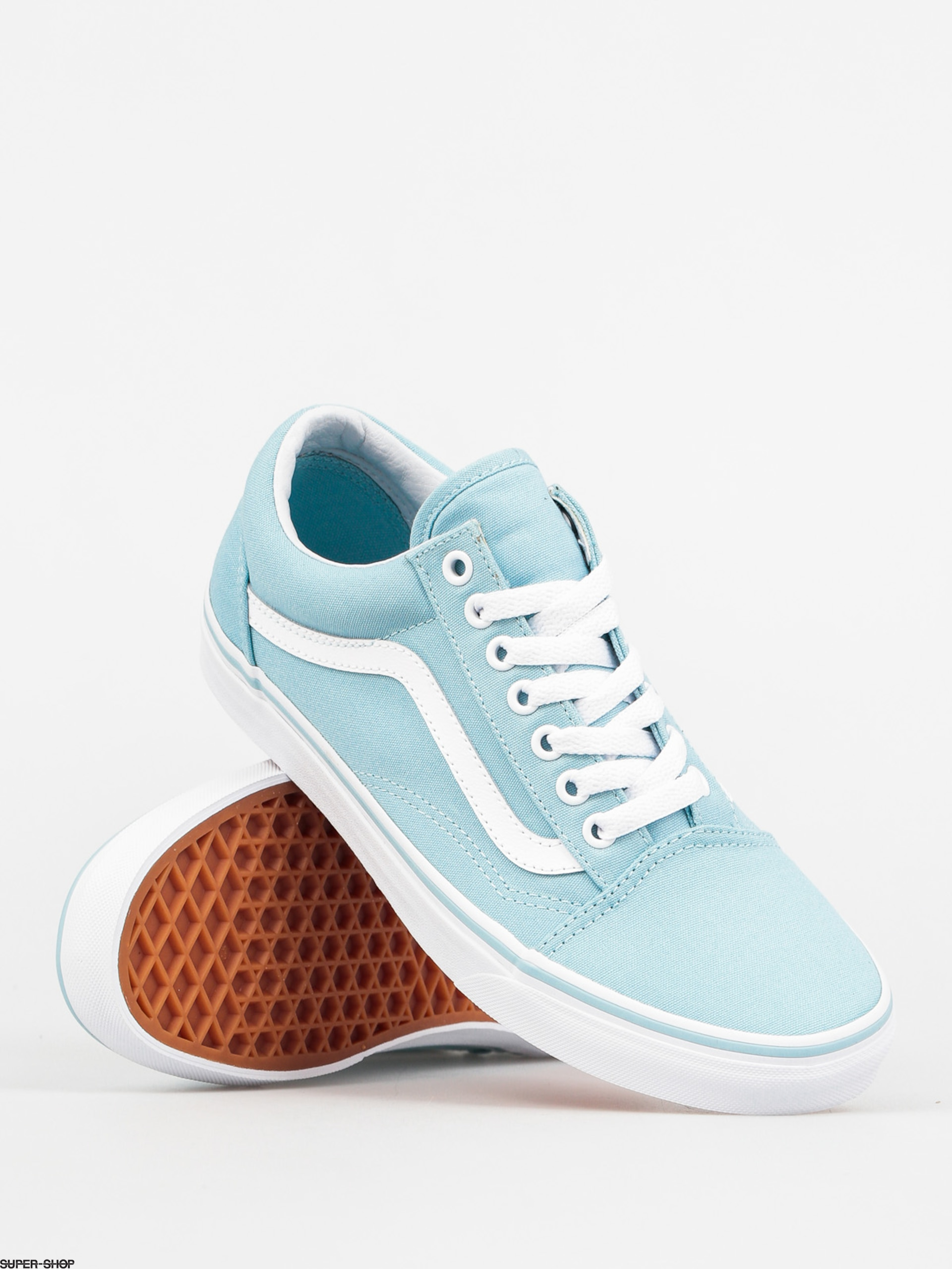 vans shoes old skool crystal blue true white. Black Bedroom Furniture Sets. Home Design Ideas