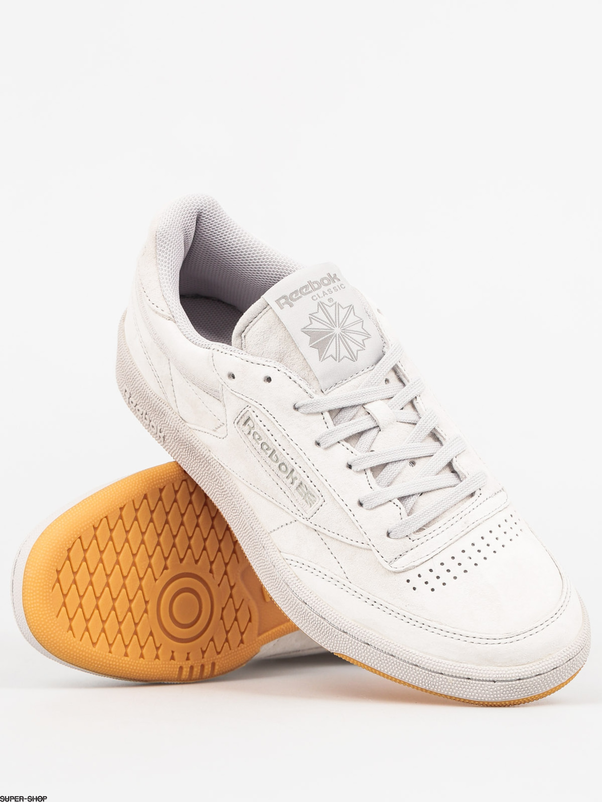 Reebok Shoes Club C 85 Tg Steel Carbon Gum