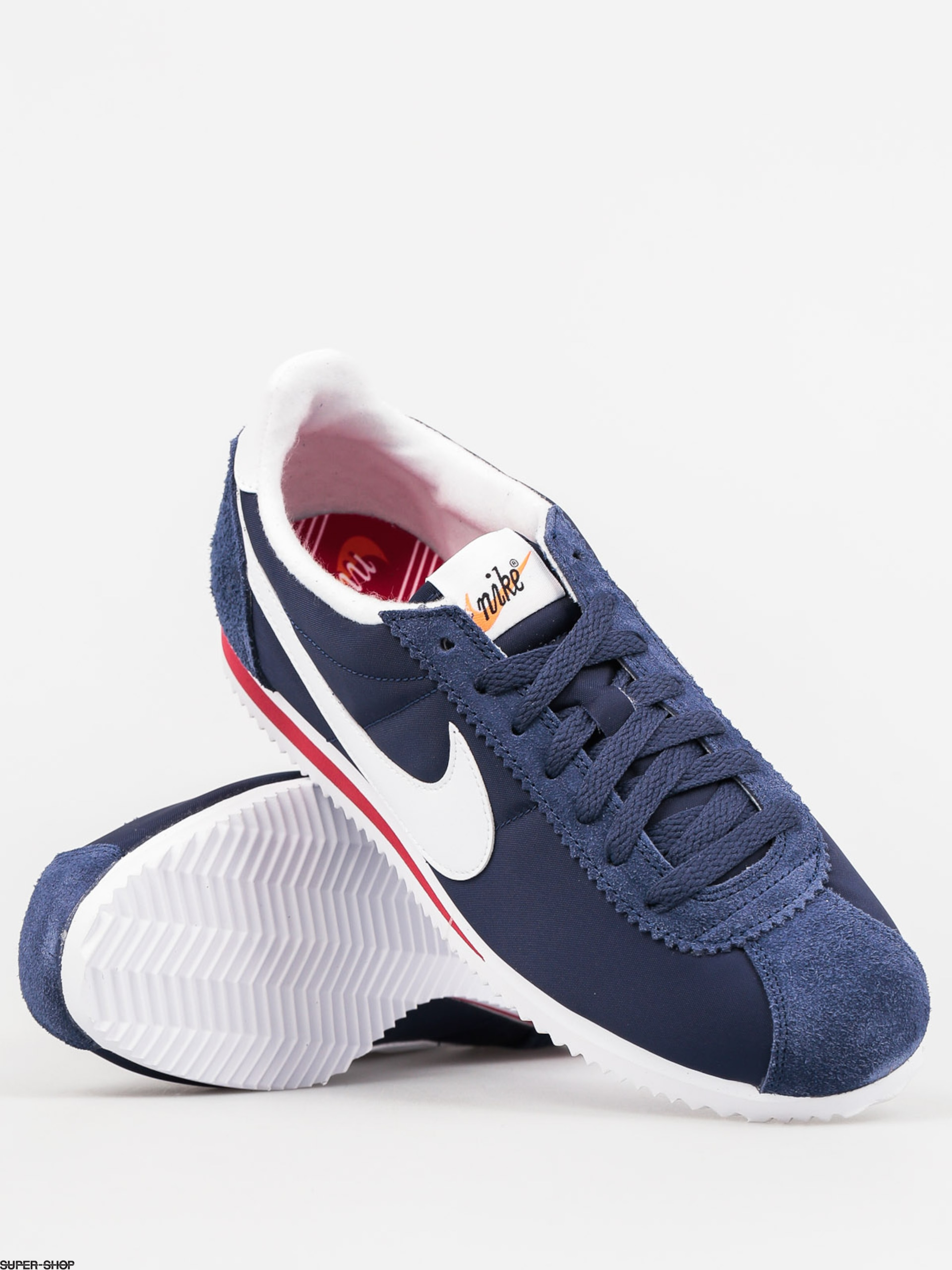 Nike Shoes Classic Cortez Nylon Prem (midnight navy/white)
