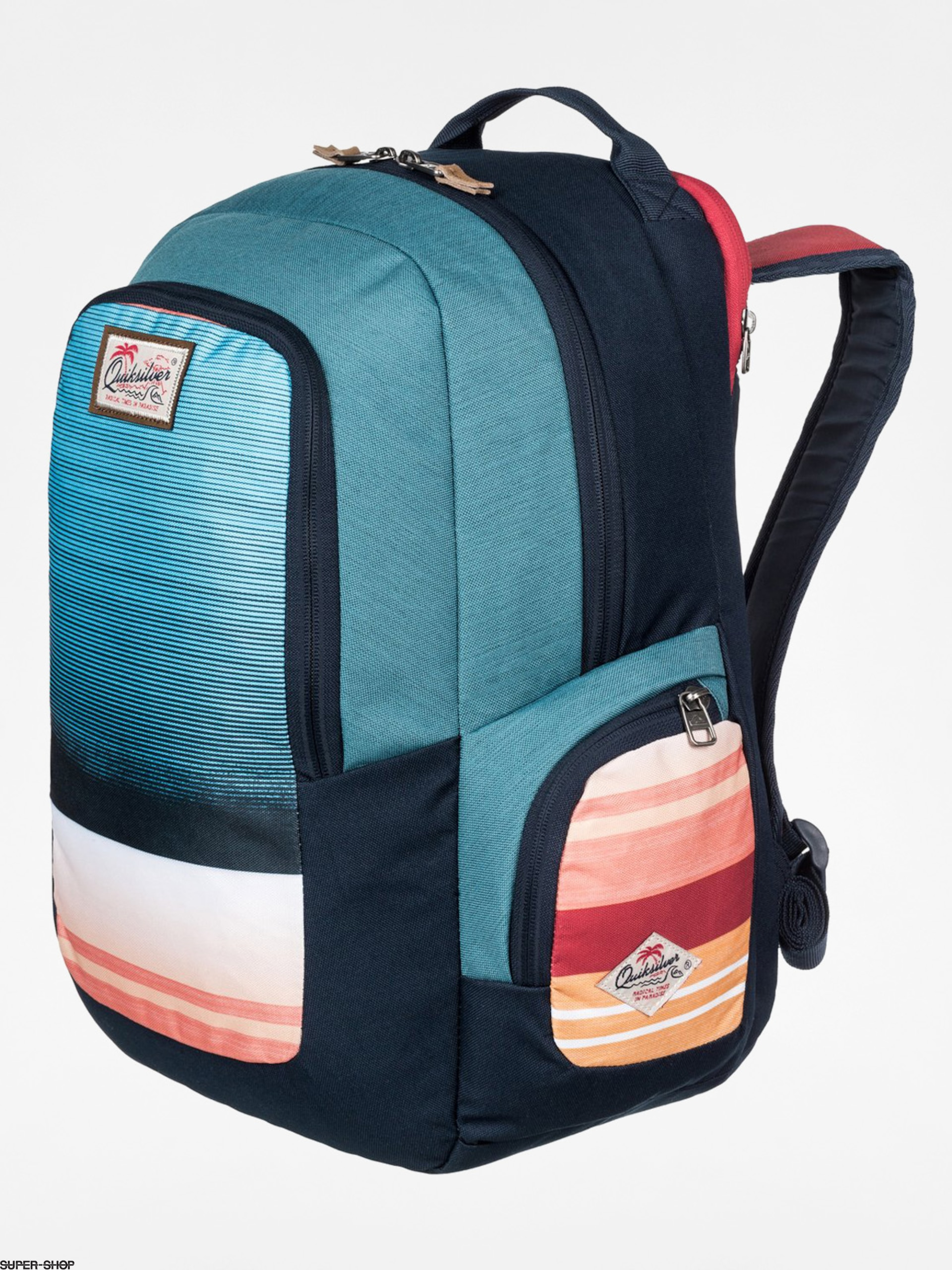 Quiksilver Backpack Schoolie (navy/blue/orange)