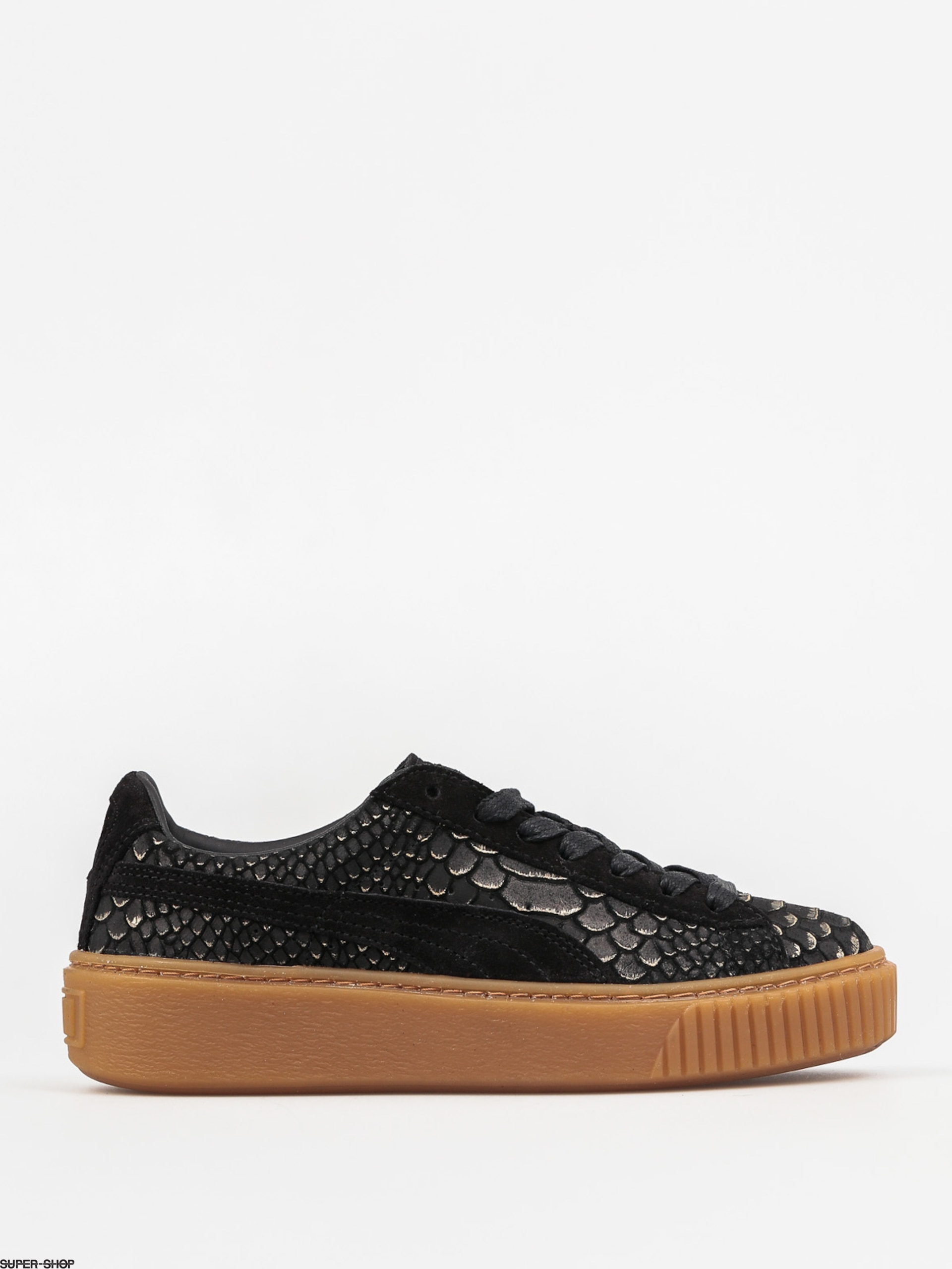 Puma Shoes Platform ExotSkinWns Wmn (black/gold)