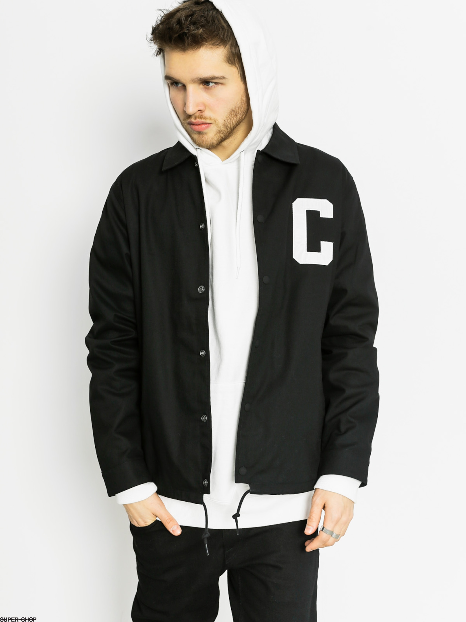 100% genuine new appearance top fashion Carhartt Jacket Penn LT (black/white)
