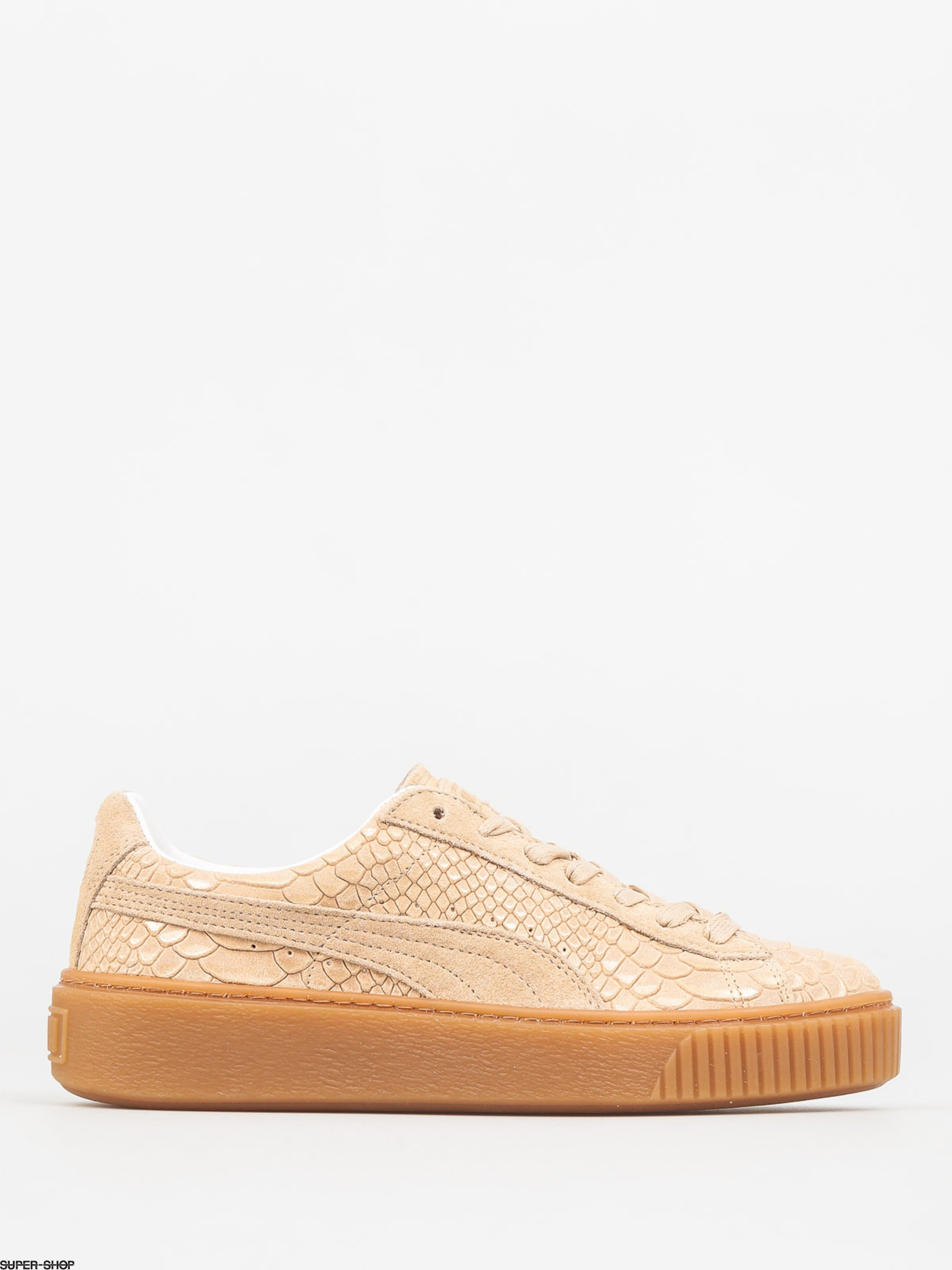Puma Shoes Basket Platform Exotic Skin Wmn (natural vachetta gold)