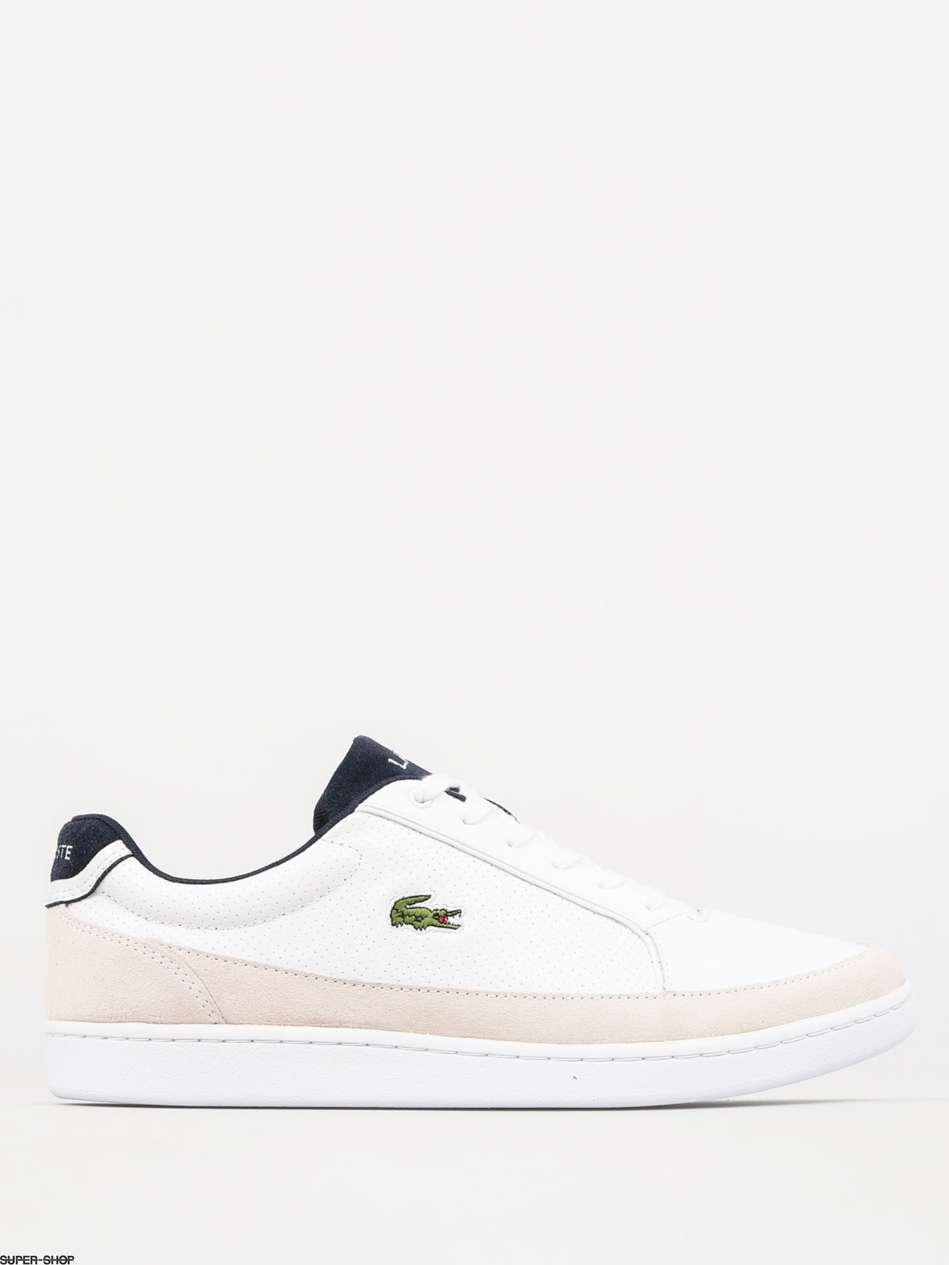 c66e05a52a3e Lacoste Shoes Setplay 117 1 Spm (white leather suede)