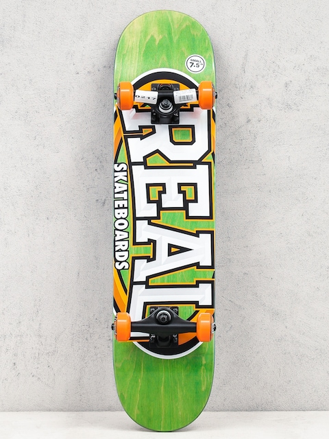Real Skateboard Alumni Small (green/orange)