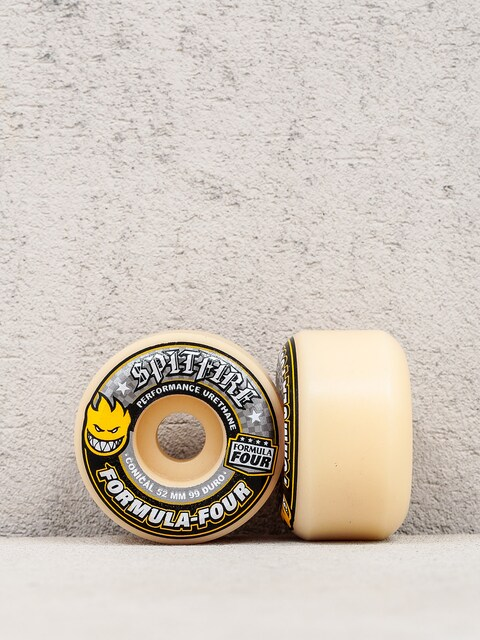 Spitfire Wheels Formula Four 99 Duro Conical (yellow print/white)