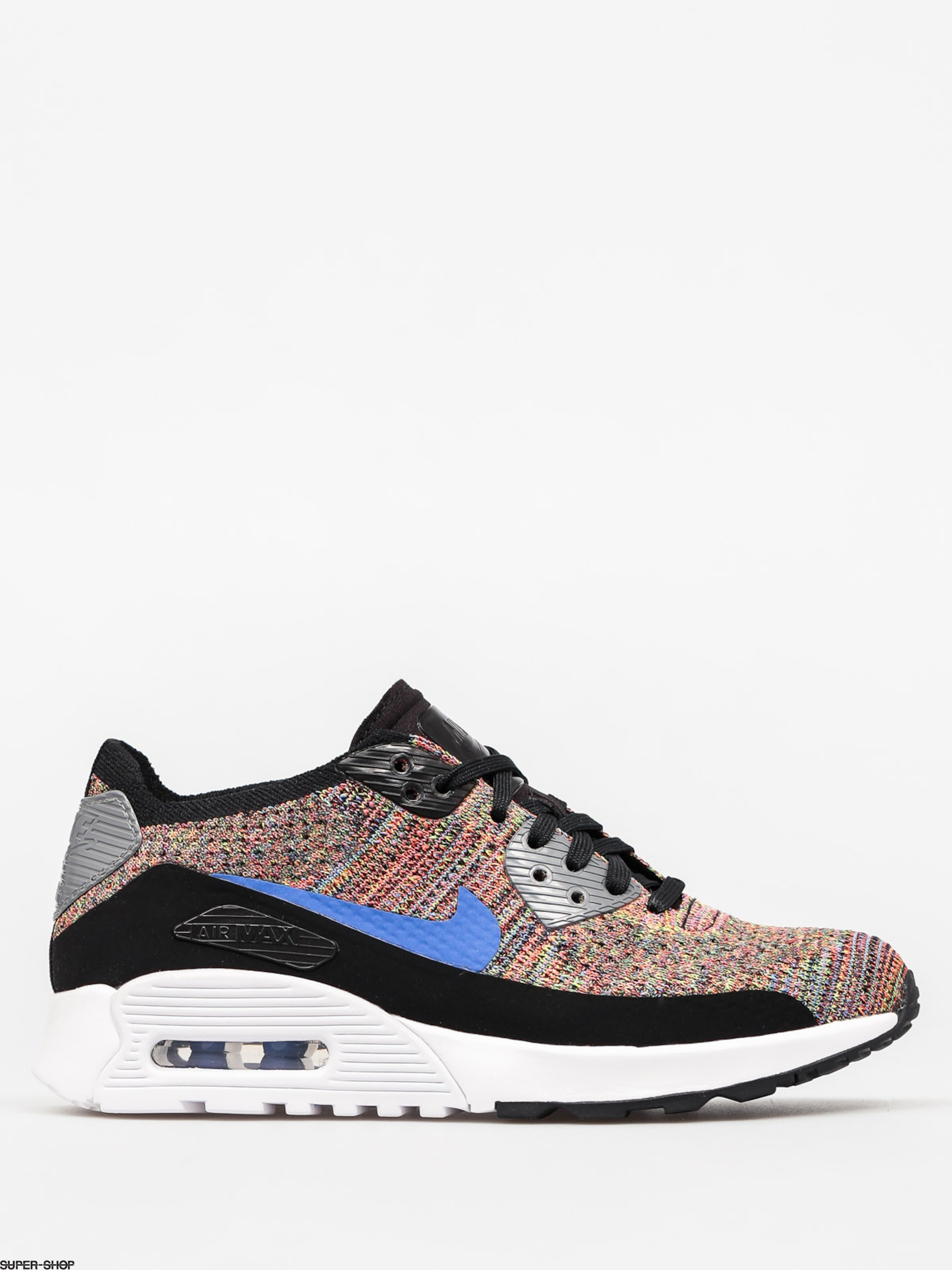 Nike Schuhe Air Max 90 Wmn (Ultra 2 0 Flyknit black/medium blue cool grey)
