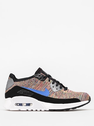 Nike Shoes Air Max 90 Wmn (Ultra 2 0 Flyknit black/medium blue cool grey)