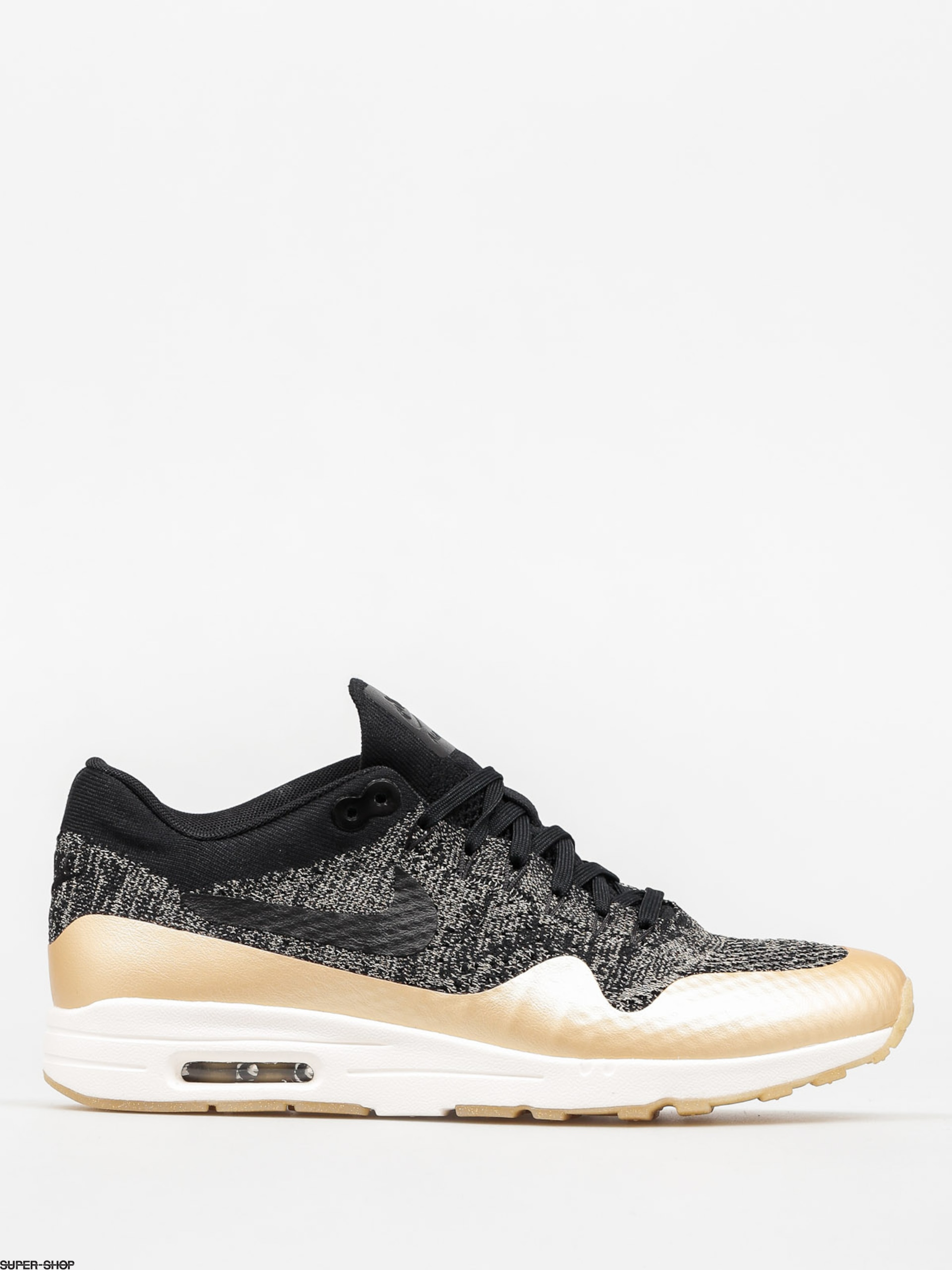 Nike Schuhe Air Max 1 Wmn (Ultra 2.0 Flyknit Metallic black/black mtlc gold star)