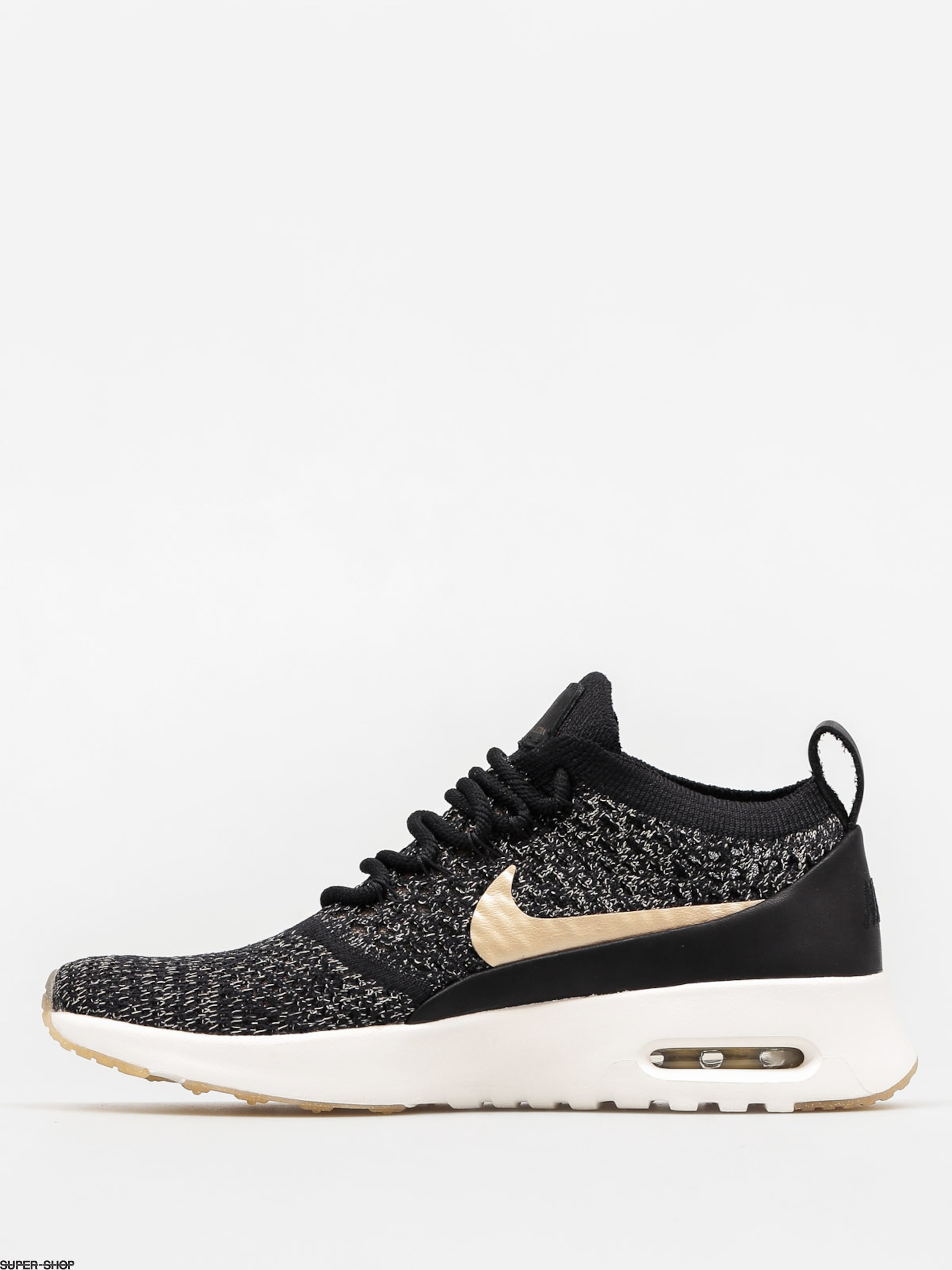 03cca078c379 ... Nike Shoes Air Max Thea Ultra Flyknit Metallic Wmn (blackmtlc gold star  ivory) ...