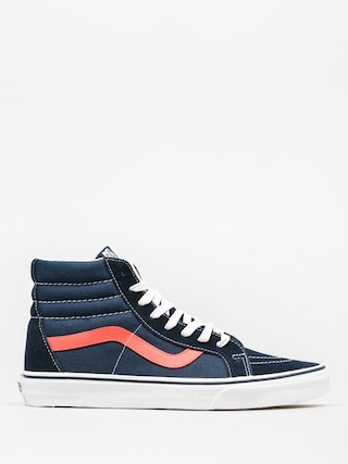Vans Shoes Sk8 Hi Reissue (neon leather/dress blue)