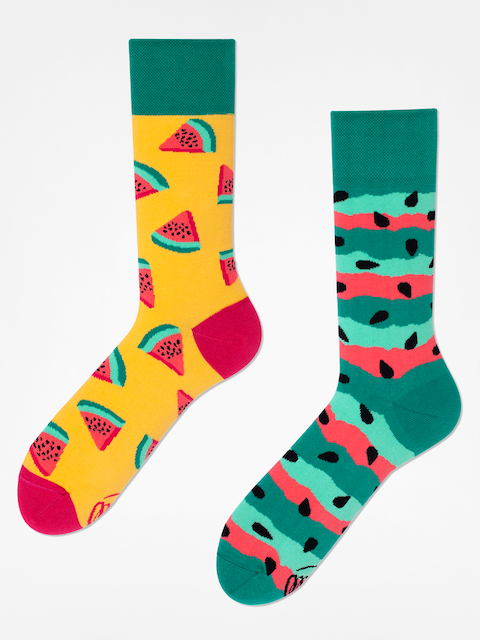 Many Mornings Socks Watermelon Splash (yellow/green)