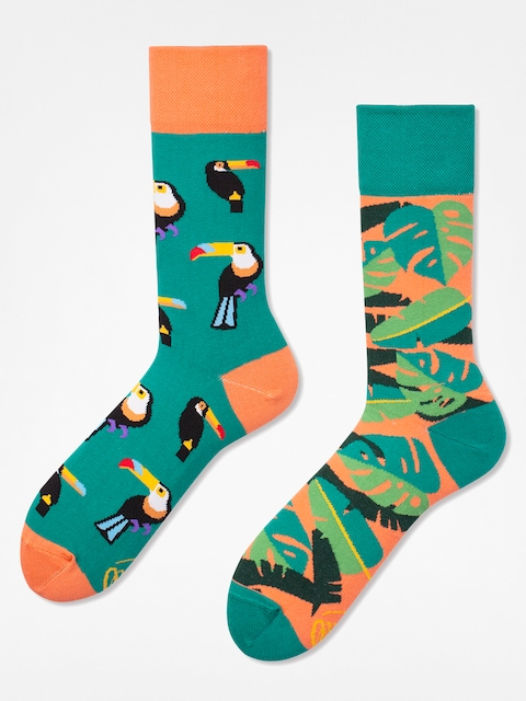 Many Mornings Socken Tropical Heat (green/coral)
