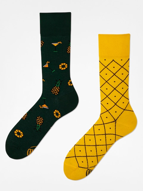 Many Mornings Socks Pineapples (yellow/green)
