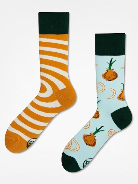Many Mornings Socks Onion Rings (blue/sand)