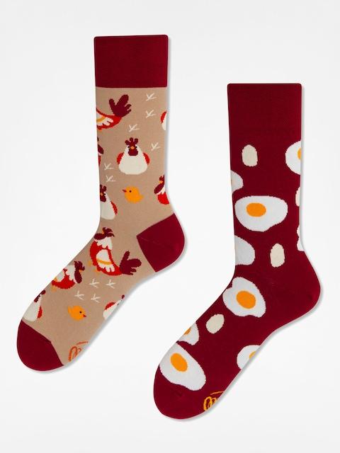 Many Mornings Socken Egg And Chicken (red/sand)