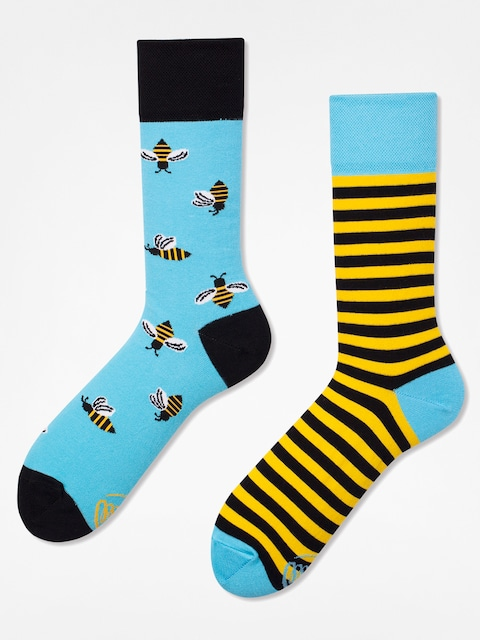 Many Mornings Socks Bee Bee (blue/yellow)