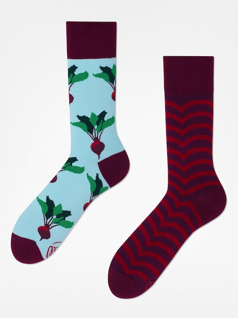 Many Mornings Socken Beetroot (maroon/light blue)