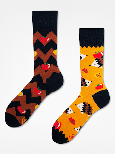 Many Mornings Socks Apple Hedgehog (yellow/brown)