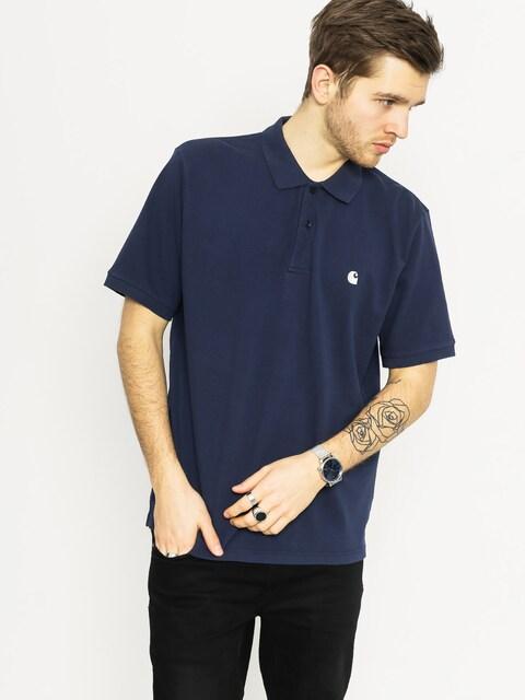 Carhartt Polo t-shirt Chase Pique (blue/white)