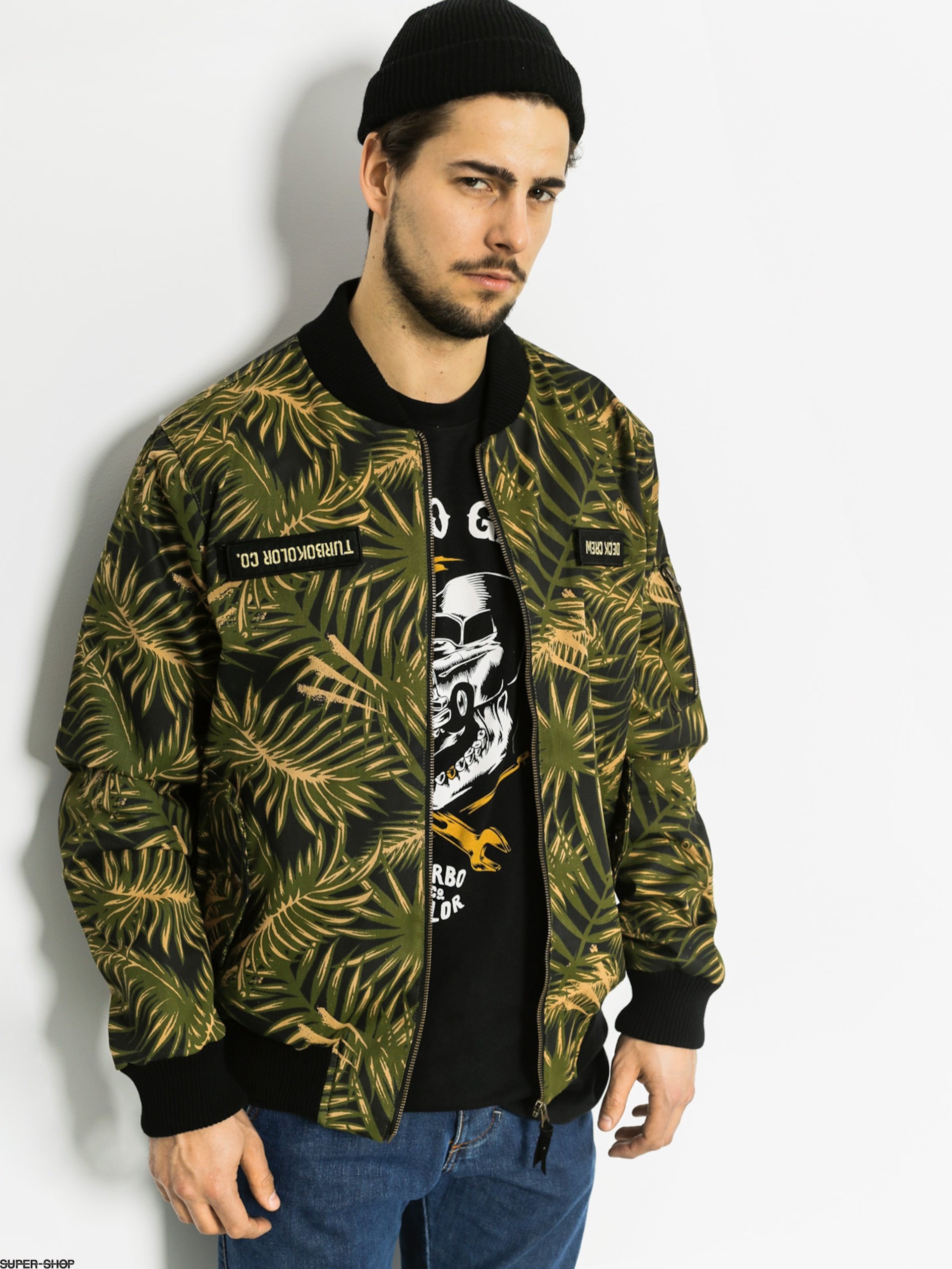 Turbokolor Jacket Bomber Deck Crew (palm mustard camo)