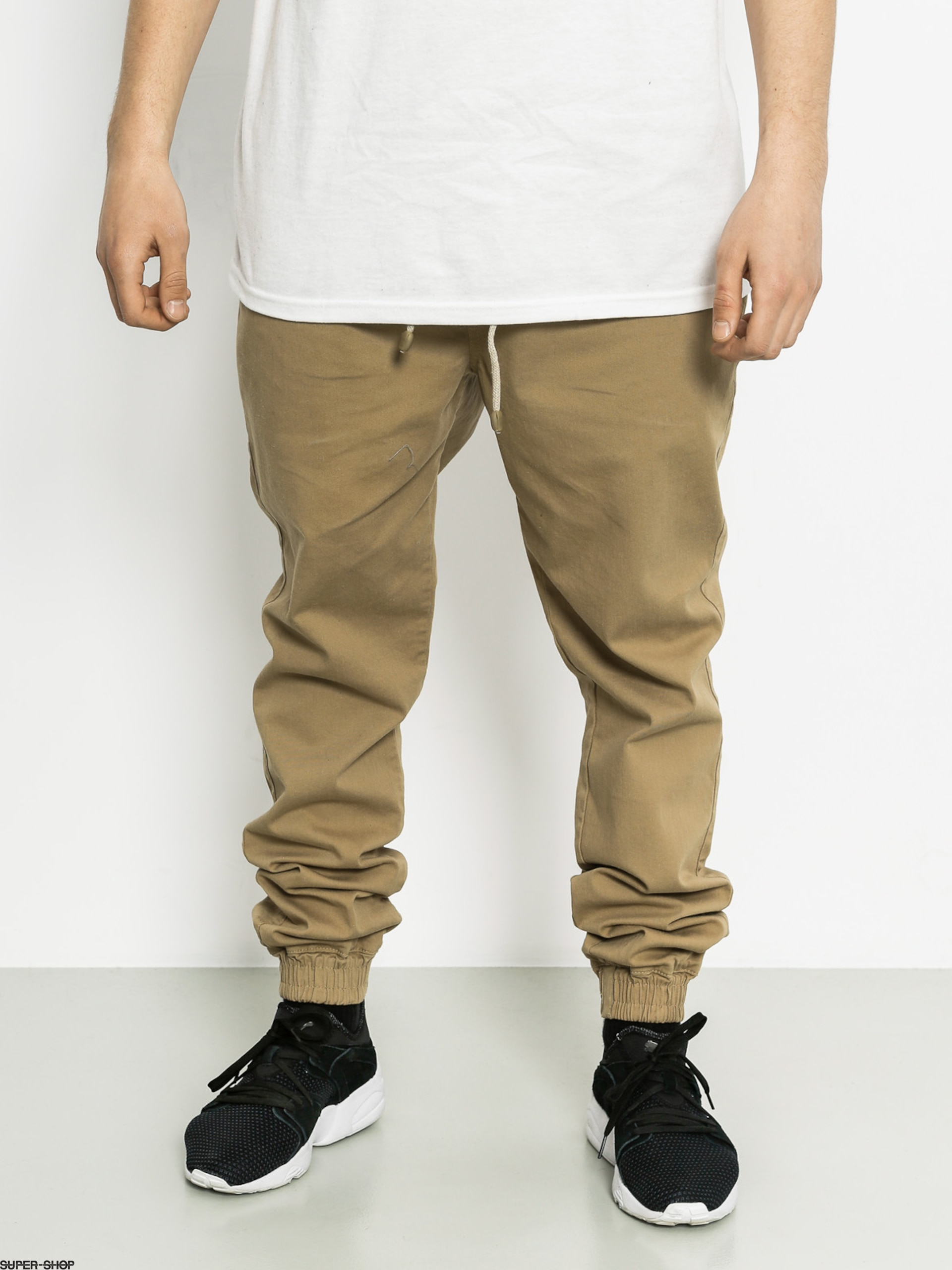 Malita Pants Jogger (beige/aztek green pocket)