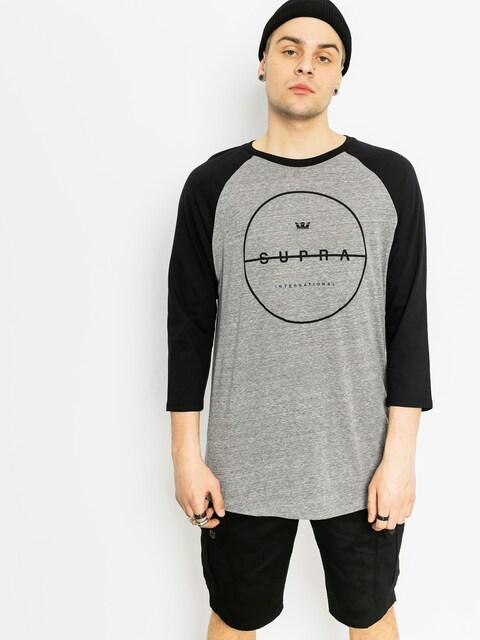 Supra T-shirt Strikeout Prem Rag (grey heather/black)