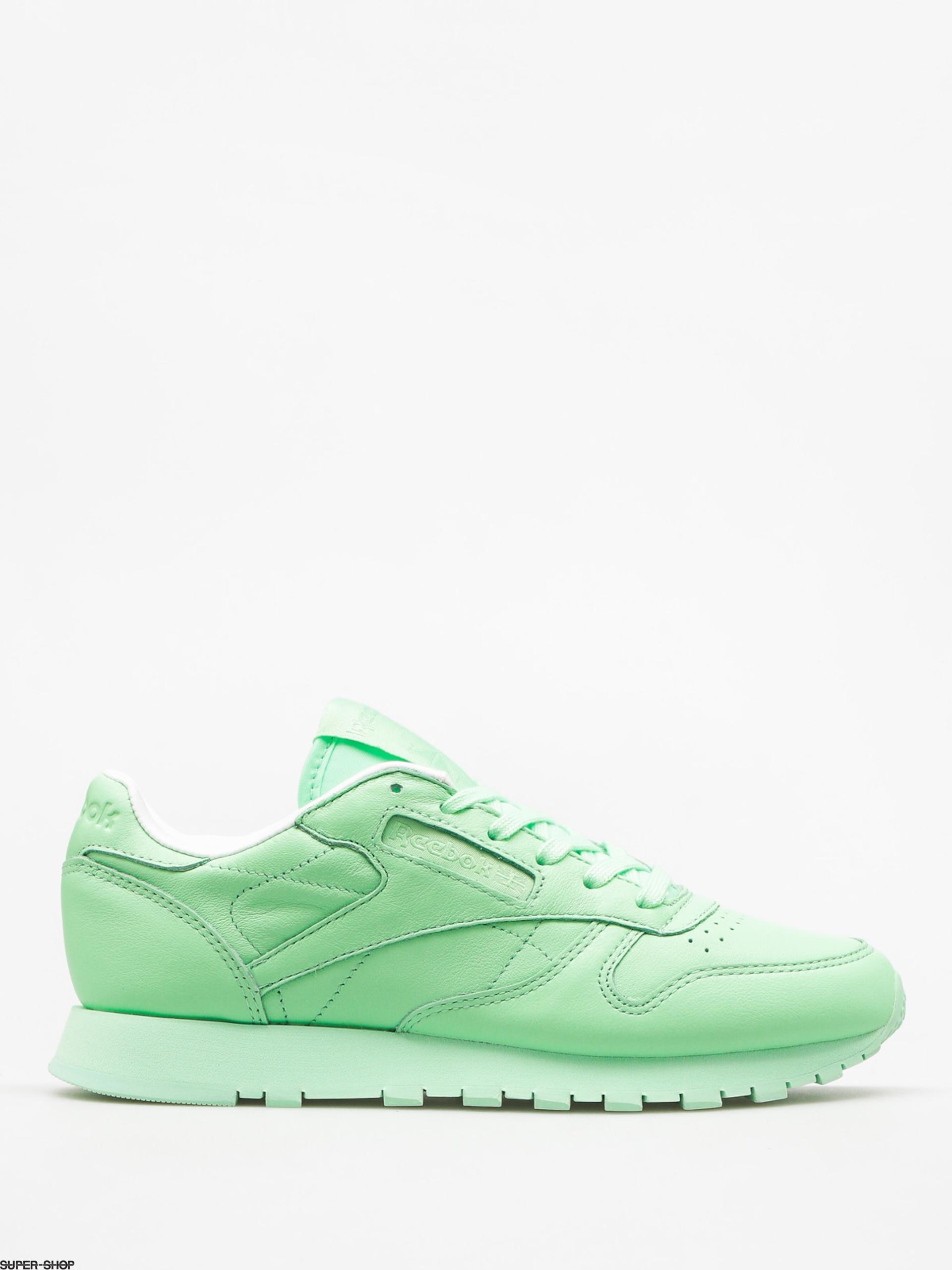 za pół zniżka szczegóły Reebok Shoes Cl Lthr Pastels Wmn (mint green/white)