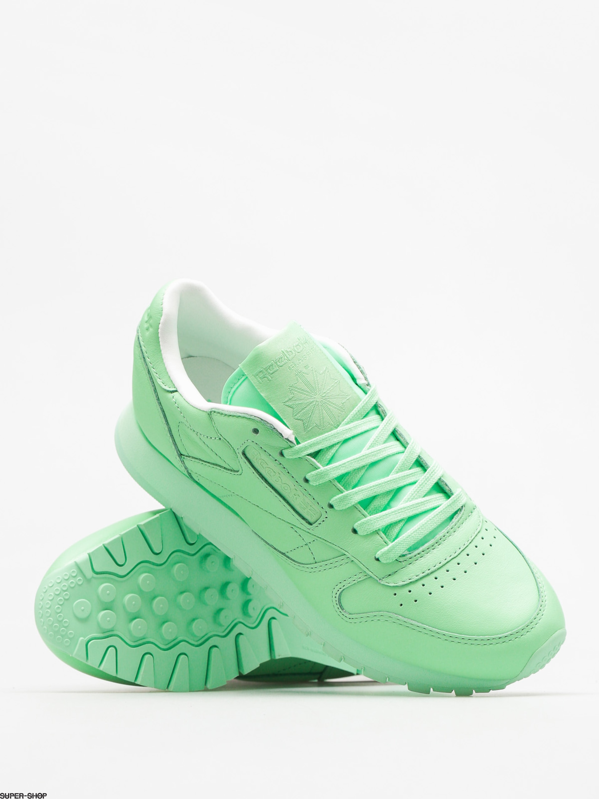 665cde3aa019 Reebok Shoes Cl Lthr Pastels Wmn (mint green white)