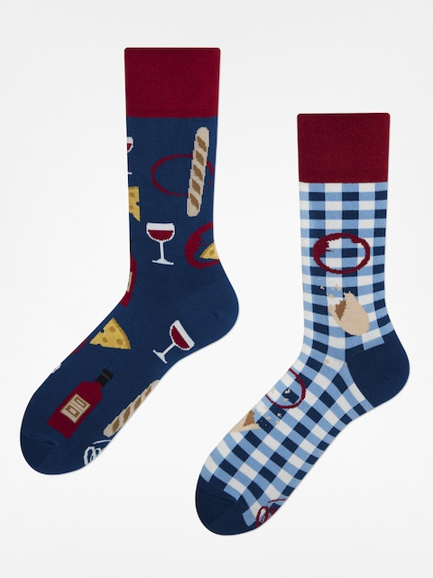 Many Mornings Socken Bonjour France (navy/maroon)