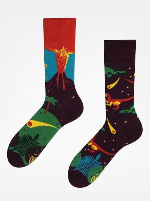 Many Mornings Socks The Dinosaurs (maroon/red)