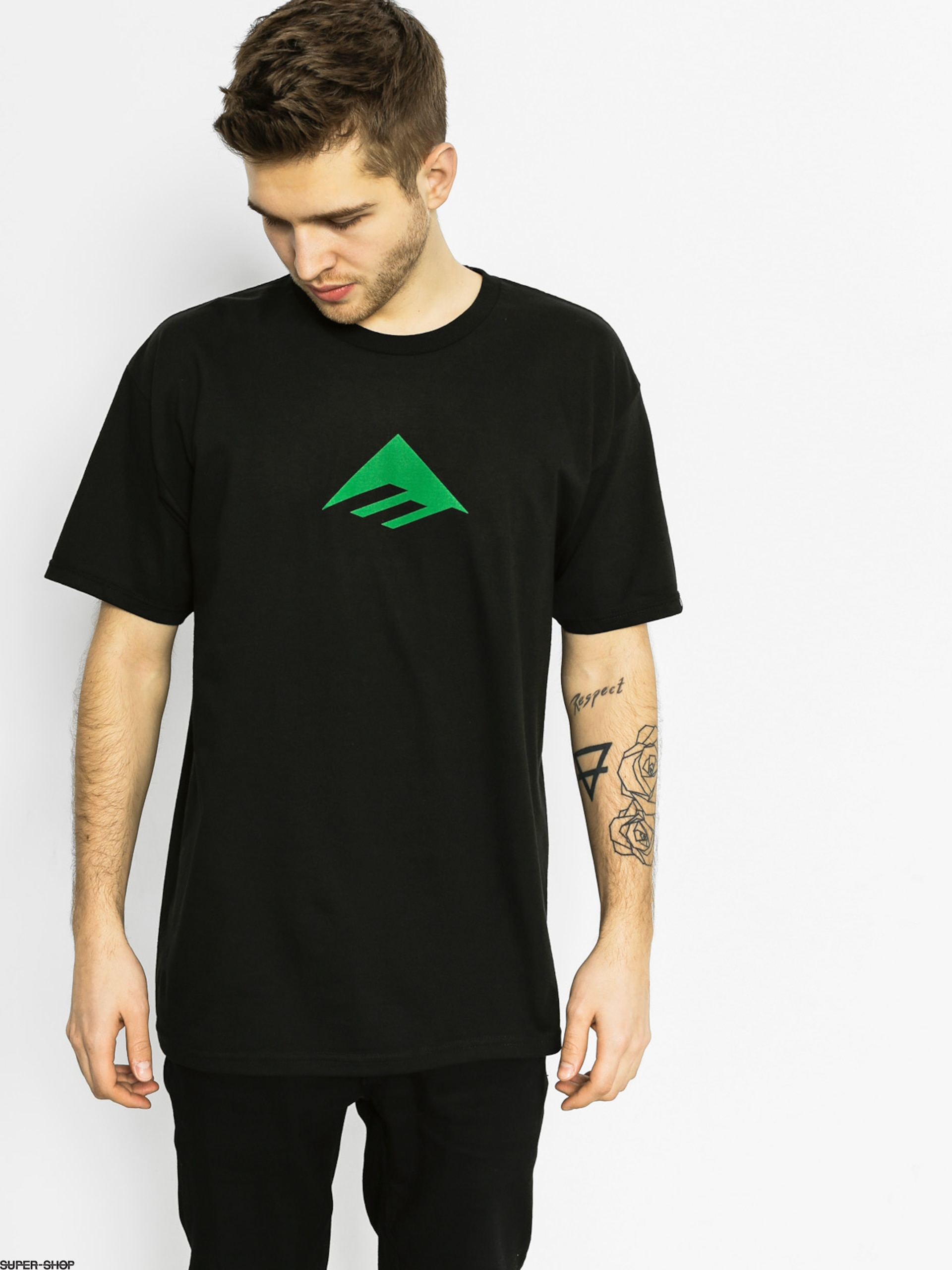 Emerica T-shirt Triangle (black/green)