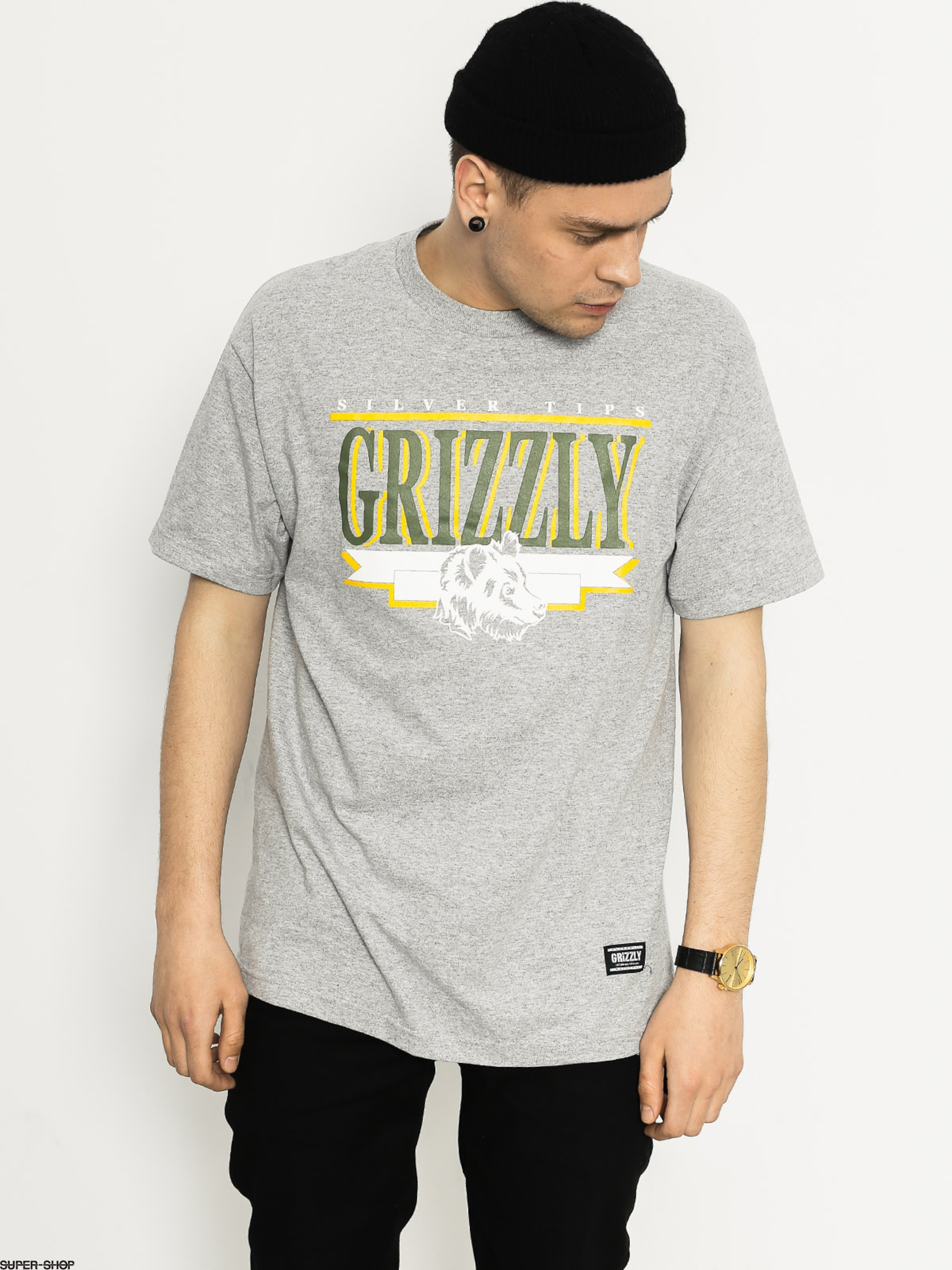 Grizzly Griptape T-shirt Silver Tip Cup (heather grey)