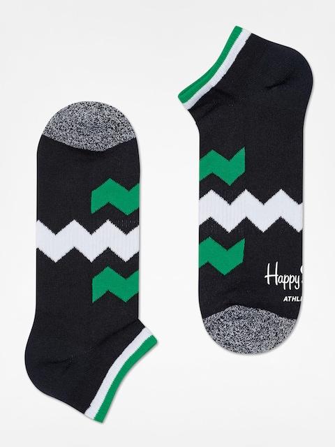 Happy Socks Socken Athletic Zig Stripe Low (black/green/white)