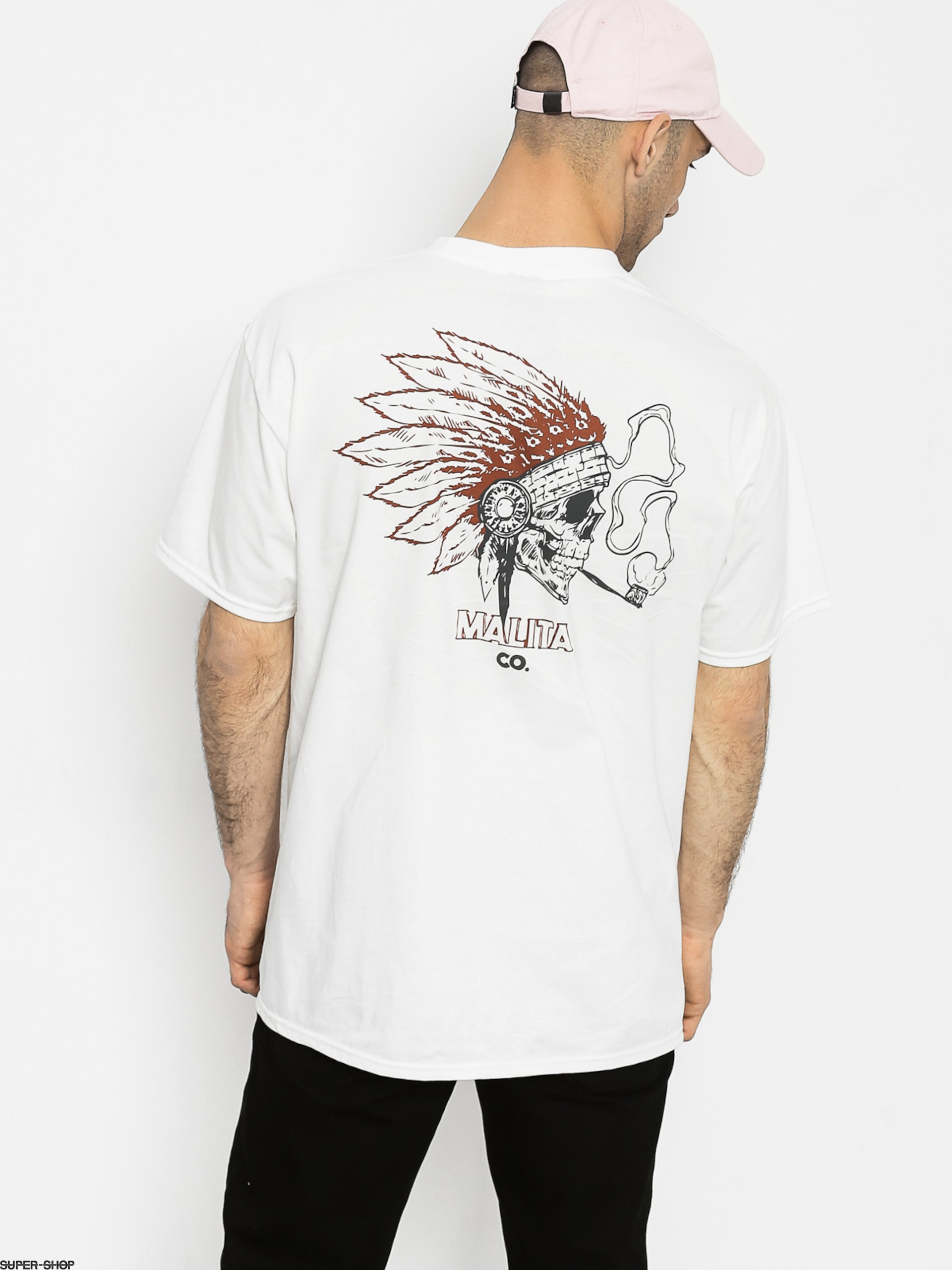 Malita T-shirt Navaho Smoke (white)