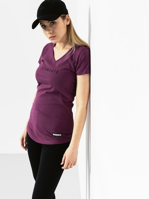 Diamante Wear T-Shirt Logo Wmn (violet)