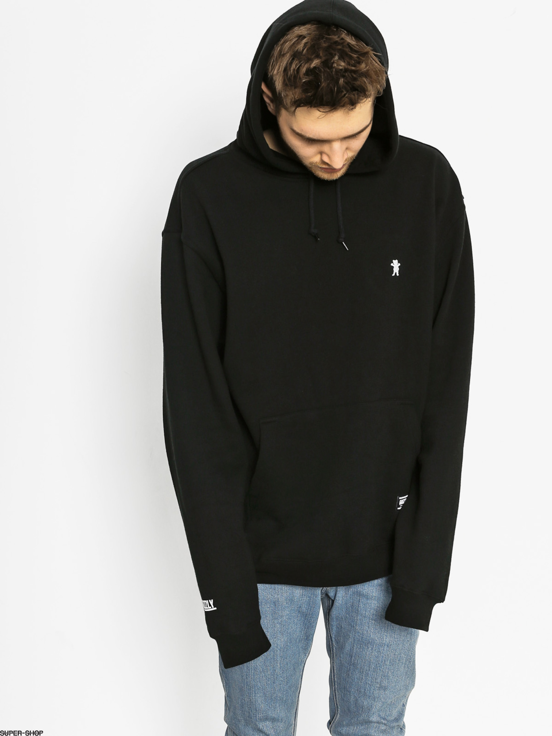 Grizzly Griptape Hoodie Og Bear Embroidered HD (black)