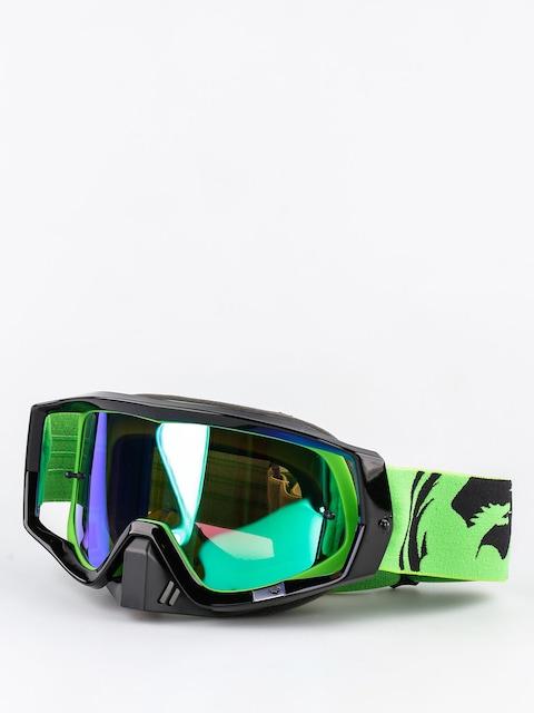 Dragon Motocross Goggle Vendetta (green black split/green ion)