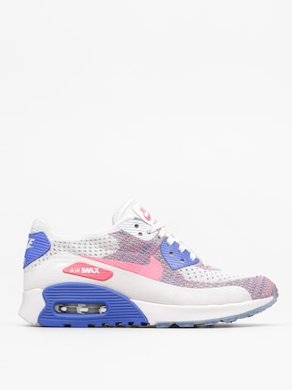 Nike Air Max 90 Shoes Wmn (Ultra 2.0 Flyknit white/racer pink medium blue)