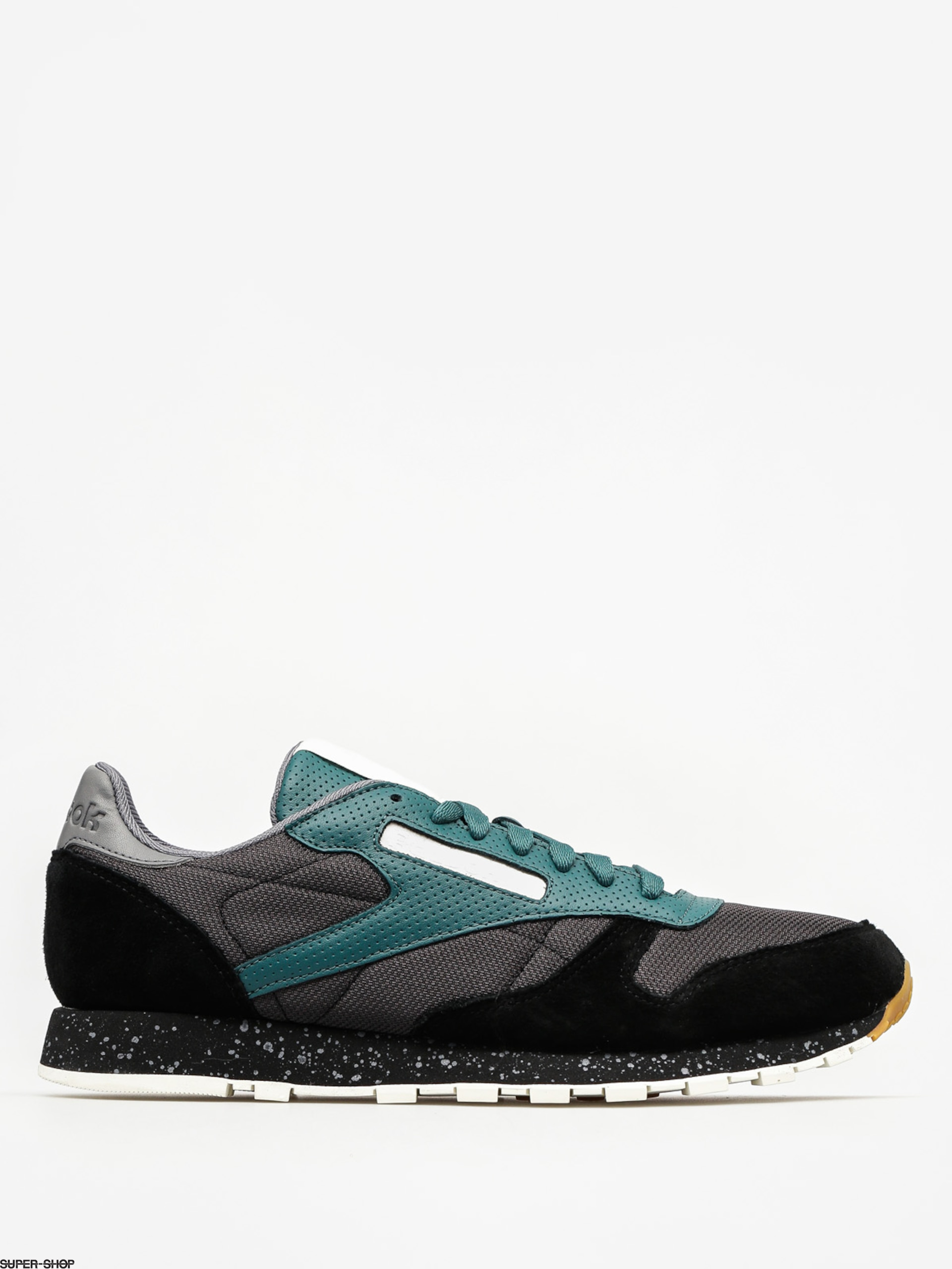 Reebok Shoes Cl Leather Sm (black/washed jade/all)