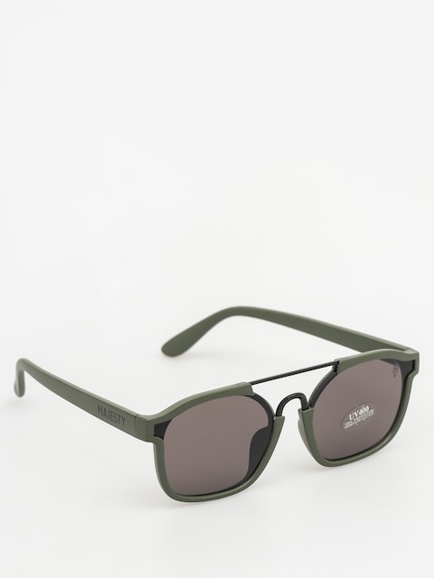 Majesty Sunglasses Wire (matt army green/black pearl lens)
