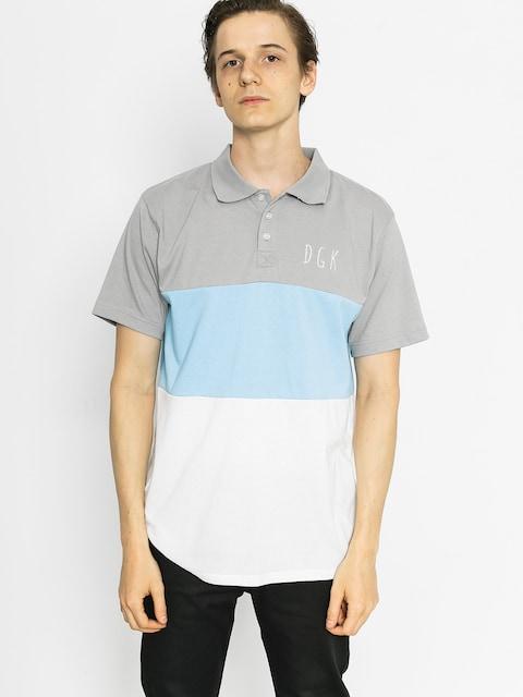DGK Polo t-shirt Saturday Custom (grey/blue/white)