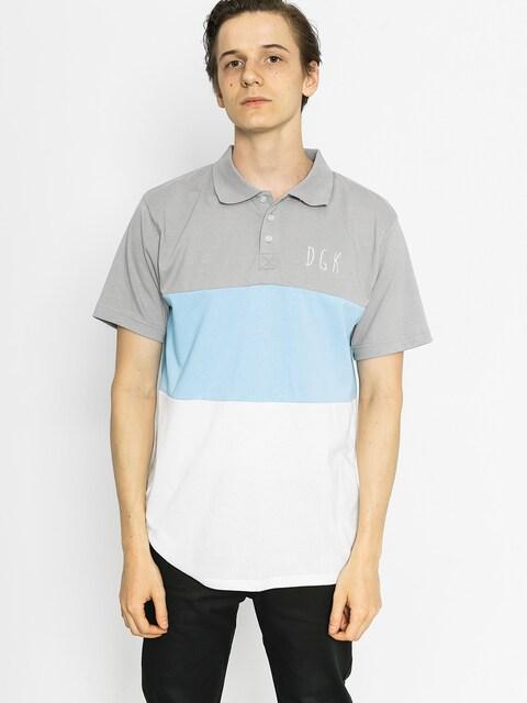 DGK Poloshirt Saturday Custom (grey/blue/white)