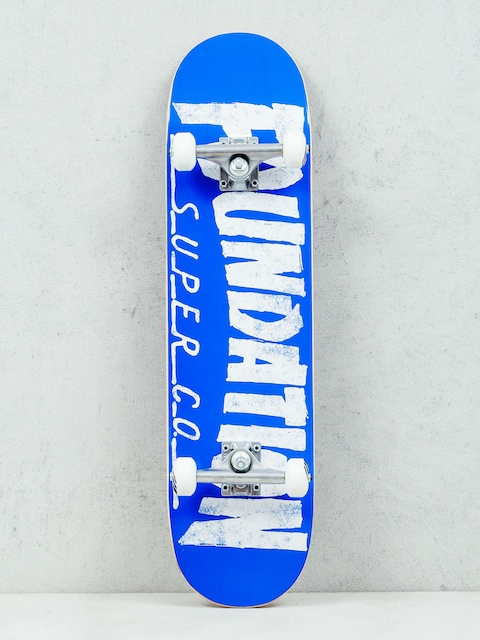 Foundation Skateboard Thrasher (blue/white)